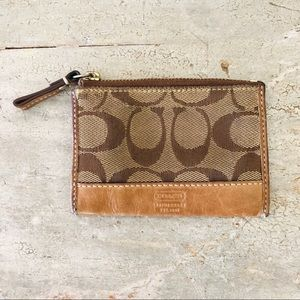 ♥️ Coach ♥️ Signature Coin/Card Pouch
